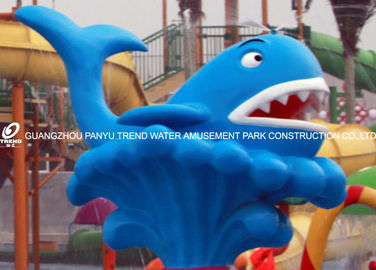 चीन Cartoon Whale Spray Play Equipment For Adults , 0.3 - 0.6m Water Depth आपूर्तिकर्ता