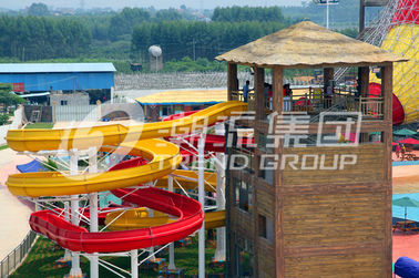 चीन 304 Stainless Steel Screw Fiberglass Water Slides 1m Width OEM for Water Park आपूर्तिकर्ता