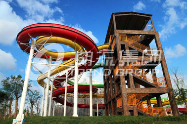 चीन Funny Strong Visual Big Water Slides For Big Outdoor Resort Spiral Water Park आपूर्तिकर्ता