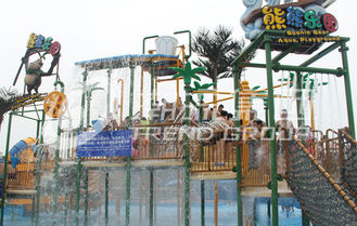 चीन Outdoor Aqua Playground Water House Structures , Water Park Equipment OEM आपूर्तिकर्ता