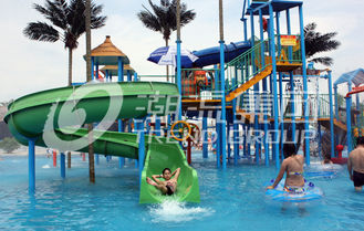 चीन Gaint Fiberglass Water House Aqua Park Games With Water Slide For Family Fun आपूर्तिकर्ता