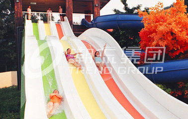चीन Multi Lanes Rainbow FRP Custom Water Slides Amusement Park Big Water Slide आपूर्तिकर्ता