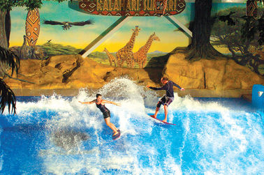चीन Enjoying Flowrider Water Ride , Surfing Attractive Wave Skid Board / Aqua Park Amusement आपूर्तिकर्ता