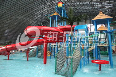 चीन Customized Children Water Slides Amusement Park Games With Galvanized Steel Support आपूर्तिकर्ता
