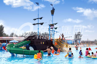 चीन Corsair Aqua Play Water Park Equipment / Large Holiday Resort Fiberglass Pirate Ship आपूर्तिकर्ता