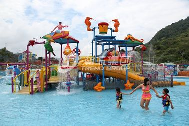चीन Fiberglass Kids' Water Playground inside water parks with water pump / Customized Water Slide आपूर्तिकर्ता