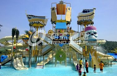 चीन Customized Childrens Water Park Fiberglass Water Slides Entertains for Water Park आपूर्तिकर्ता