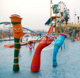 चीन Customized Carp Carton Spray Park Aqua Park Equipment For Children / Kids Fun आपूर्तिकर्ता