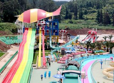 चीन Large - scale Custom Family Water Slides with Galvanized steel Material आपूर्तिकर्ता