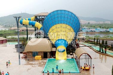 चीन Interesting big Fiberglass Water Slides for 4 persons / time आपूर्तिकर्ता