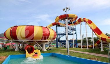 चीन Fiberglass Aqua Park Water Slides with bowl ride HS code 95069900 आपूर्तिकर्ता