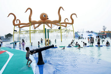 चीन Fiberglass Aqua Park Equipment Water Spray System For Kids / Adults आपूर्तिकर्ता