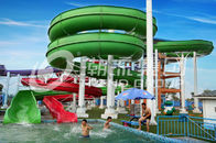 चीन Green Big Commercial Pool Water Slides For Theme Park / Backyard Water Slides Kids फैक्टरी