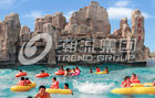 चीन Fashional Fiberglass Water Parks With Wave Pools Popular Cool / Water Slide कंपनी
