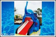 चीन Cartoon Shaped Fiberglass Water Pool Slides for Mini Kids Water Park फैक्टरी