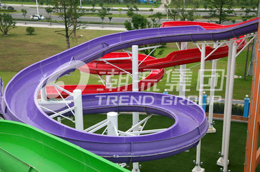 चीन Popular Spiral Water Park Slide With Vertical Track , FRP Water Park Slides For Water Park फैक्टरी