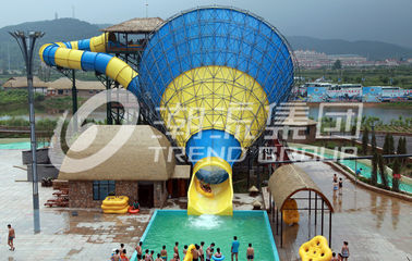 चीन Huge Tornado Custom Water Slides Width 18.6m 42*60m For Family Riding फैक्टरी