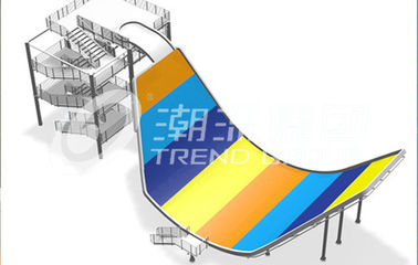 Amusement Park Fiberglass Water Slides SGS Audited Water Park Equipment