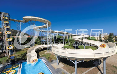 चीन Galvanized Carbon Steel Custom Water Slides FPR Water Park Large Water Slides फैक्टरी