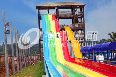 चीन 13m Rainbow Custom Water Slides For 6 Guests Per Time , Amusement Park फैक्टरी