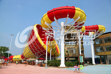चीन Fiberglass Commercial Family Water Slide For Home  , 16m Height फैक्टरी