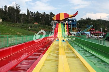 चीन Fiberglass Water Park Equipment Custom Water Slides / Adventure Water Slides for Themed Park फैक्टरी