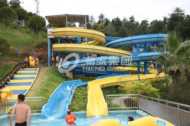 चीन White Color Aqua Park Slide , Family Play Indoor Fiberglass Water Slides 6m Height for Water Park फैक्टरी