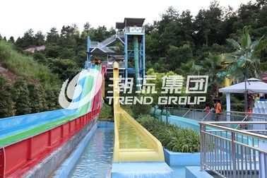 चीन High Speed Custom Water Slides , Adults Fiberglass Free Fall Slide For Giant Water Park फैक्टरी