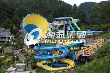 चीन Huge Tornado Custom Water Slides For Family Riding , Width 18.6m फैक्टरी