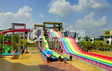 चीन General Water Park Custom Rainbow Water Slides High Speed Adult Plastic Water Slide फैक्टरी