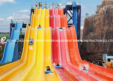 चीन Theme Park Custom Water Slides Steel Structure For Hotel / Resorts Used फैक्टरी
