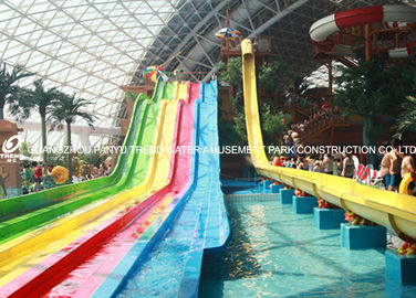 चीन 4 Lanes GRP Custom Water Slides / Amusement Park Water Slides for Adults फैक्टरी