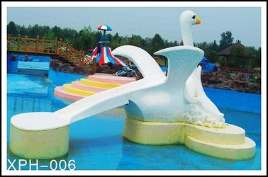Commercial Fiberglass Water Pool Slides with Interesting Cartoon Shaped