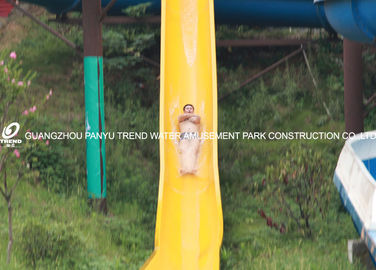 चीन Fiberglass Custom Water Slides High Speed For Amusement Water Park 1 Person / Lane फैक्टरी