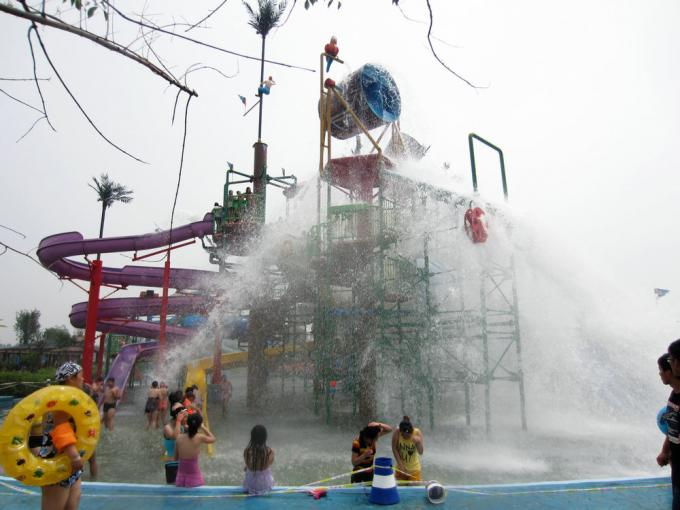 Waterpark Project, Outdoor Water Park Engineering Projects / Customized Water Slide