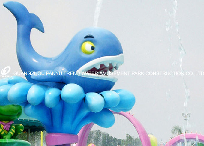 Cartoon Whale Spray Play Equipment For Adults , 0.3 - 0.6m Water Depth