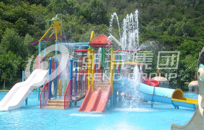 Customized Indoor / Outdoor Aqua Park Equipment Kids Water House For Family Interaction
