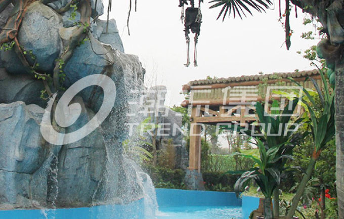 FRP Outdoor Water Park Lazy River Amusement Park Equipment For Children / Adults in Amusement Park