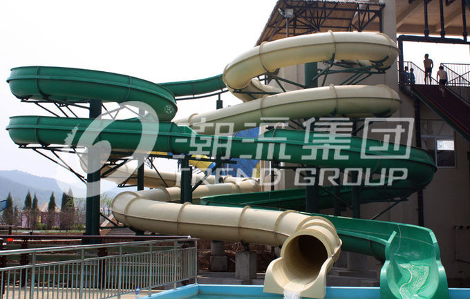Funny Strong Visual Big Water Slides For Big Outdoor Resort Spiral Water Park