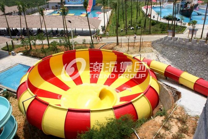 Fiberglass Aqua Park Water Slides with bowl ride HS code 95069900